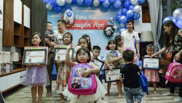 Sôi động và vui nhộn Ngày hội Khuyến học dành cho các bé của Thước Tầm Group